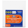 Elmer's Dry Erase Foam Board - White Foam Board Surface - Rectangle - Portable - 3 / Pack