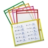 Neon Color Dry-erase Pockets - Neon Red, Neon Yellow, Neon Orange, Neon Green, Neon Pink Frame - Rectangle - 25 / Set