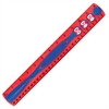 "12"" Kid Grip Ruler - 12"" Length - 1 Each - Red, Blue"