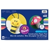 "Heavyweight Construction Paper Pad - 18"" x 12"" - 48 / Pad - Assorted - Paper"