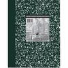 "Roaring Spring Black Marble Lab Book - 60 Sheets - Printed - Casebound/Sewn - Quad Ruled - 5 Horizontal Squares - 5 Vertical Squares - 15 lb Basis Weight 7.88"" x 10.13"" - White Paper - Green Marble Co"