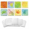 Leaf-embossed Paper Set - 24 Piece(s) - 24 / Set - White