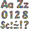 "Trend Stained Glass Design 4"" Ready Letters Pack - Learning Theme/Subject - 59 Uppercase Letters, 84 Lowercase Letters, 20 Numbers, 35 Punctuation Marks, 18 Spanish Accent Mark - Stained Glass - Reusa"