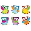 "Trend Owl-Stars Buddies Mini Accents Variety Pack - Fun Theme/Subject - Owl - Durable, Precut, Reusable - 3"" Height - Multicolor - 36 / Pack"