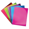 "Mirror Boards Set - 11"" x 8.5"" - 5 / Pack - Red, Green, Purple, Blue, Pink - Card Stock"