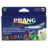 Prang Decor Multi-Surface Markers - Assorted Water Based Ink - 6 / Set