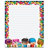 "Trend BlockStars Rectangle Notepad - 50 Sheets - Printed - 6.50"" x 7.75"" - Multicolor Paper - 50 / Pad"