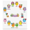 Carson-Dellosa Colorful Owls Birthday Bulletin Board Set - Birthday, Learning Theme/Subject - 14, 12 (Owl, Month Heading) Shape - Multicolor - 1 Set