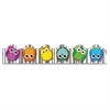 "Colorful Owls Scalloped Borders - Learning Theme/Subject - Owl, 13 Scalloped Border - 36"" Height x 2.25"" Width - Multicolor - 13 / Pack"