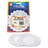 "Round Doilies - 100 Piece(s) - 4"" - 1 Pack - White - Paper"