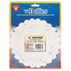 "Round Doilies - 100 Piece(s) - 6"" - 1 Pack - White - Paper"