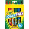 Power Lines 6-color Project Markers - Assorted - 6 / Pack