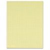 "TOPS 4 Sq In Quadrille Pad - Printed - Glue - Both Side Ruling Surface - Quad Ruled - 4 Horizontal Squares - 4 Vertical Squares - 15 lb Basis Weight - Letter 8.50"" x 11"" - Canary Paper - 12 / Pack"
