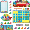 "BlockStars Calendar Bulletin Board Set - 23"" Height - Multicolor - 103 / Set"