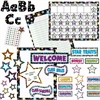 "Teacher Created Resources Fancy Stars Accents Board Set - Decorative Accent - Fancy Stars - Strong, Durable, Damage Resistant - 0.50"" Height x 18"" Width x 30.25"" Depth - Multicolor - 1 Set"