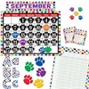 "Teacher Created Resources Paw Prints Accents Board Set - Decorative Accent - Paw - Strong, Durable, Damage Resistant - 0.50"" Height x 18"" Width x 30.25"" Depth - Multicolor - 1 Set"
