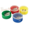 "Pencil Grip 2-hole Round Shapener - 2 Hole(s) - 1.5"" Height x 1.5"" Width - Assorted, Transparent"