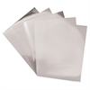 "Silver Mirror Boards - 11"" x 8.5"" - 5 / Pack - Silver - Card Stock"