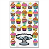 Colored Cupcake Bakeshop Stickers - Cupcake - Self-adhesive - Acid-free, Fade Resistant, Non-toxic, Photo-safe - Multicolor - 200 / Pack