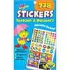 Seasons Holidays Stickers - Star, Hat, Flower - Self-adhesive - Acid-free, Fade Resistant, Non-toxic, Photo-safe - Multicolor - 738 / Pad