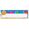 "Sea Buddy Desk Toppers Nameplates - 2.88"" Height x 9.50"" Width - Multicolor - 36 / Pack"