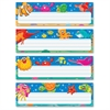"Sea Buddies Desk Toppers Nameplates - Learning Theme/Subject - Colorful Sea Creatures, White Bubbles - 2.88"" Height x 9.50"" Width - Multicolor - 32 / Pack"
