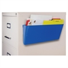 Storex Magnetic Wall Pocket - Wall Mountable - Blue - 1Each