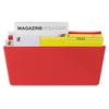 Storex Magnetic Wall Pocket - Wall Mountable - Red - 1Each
