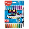 Maped Duo Color'Peps 2-color Tip Markers - Conical Point Style - Assorted - 10 / Pack