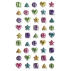ChenilleKraft Geometric Gemstone Stickers - Fun Theme/Subject - 45 (Geometric) Shape - Self-adhesive - Non-toxic - Assorted - 45 / Each