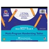 "Pacon Grade K Multi-Program Handwriting Tablet - 40 Sheets - Both Side Ruling Surface - Ruled 8"" x 10.50"" - White Paper - Assorted Cover - 1Each"