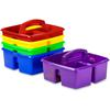 "Classroom Caddy - 3 Compartment(s) - 5.3"" Height x 9.3"" Width x 9.3"" Depth - Recycled - Blue, Yellow, Green, Red, Purple - Plastic - 5 / Set"