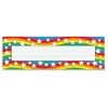 "Star Rainbow Desk Toppers Name Plates - 36 / Pack - 9.5"" Width x 2.9"" Height - Rectangular Shape - Assorted"