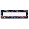 "Stargazer Desk Toppers Name Plates - 36 / Pack - 9.5"" Width x 2.9"" Height - Rectangular Shape - Assorted"