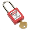 SKILCRAFT Safety Lockout Padlock - Keyed Alike - Thermoplastic Body - Red