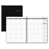 At-A-Glance Classic Monthly Appointment Planner - Julian - Monthly, Daily - 1 Year - January 2017 till December 2017 - 1 Month Double Page Layout - Wire Bound - Desk - Simulated Leather - Black - Refe