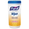 Purell Citrus Scent Hand Sanitizing Wipes - White - Fragrance-free, Textured, Durable, Soft, Alcohol-free - For Hand, Face - 40 Sheets Per Canister - 1 Each
