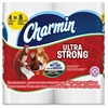Charmin Ultra Strong Bath Tissue - 2 Ply - 154 Sheets/Roll - White - Absorbent, Clog-free, Anti-septic - For Bathroom - 4 / Pack