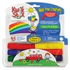 The Pencil Grip Kwik Stix Tempera Paint/Paper Set - 7 / Pack - Green, Red, Black, Blue, Yellow, Gray