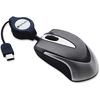 Verbatim USB-C Mini Optical Travel Mouse - Optical - Cable - Black - USB - Notebook - Scroll Wheel