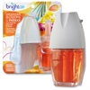 Bright Air Hawaiian Scented Oil Warmer Combo - Oil - 0.7 fl oz (0 quart) - Hawaiian Blossom, Papaya - 45 Day - 8 / Carton - Long Lasting
