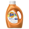 Tide Plus Bleach Lndry Detergent - Liquid - 92 oz (5.75 lb) - Original Scent - 4 / Carton - Orange