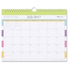 "Blue Sky Teacher Stripes Wall Calendar - Academic - Julian - Monthly, Daily - 1 Year - July 2016 till June 2017 - 1 Month Single Page Layout - 11"" x 75"" - Wire Bound - Wall Mountable - Multicolor - Pa"