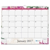 "Blue Sky Dahlia Wall Calendar - Julian - Monthly, Daily - 1 Year - January till December - 1 Month Single Page Layout - 15"" x 12"" - Wire Bound - Wall Mountable - Multicolor - Writable Surface, Notes A"