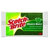 "Scotch-Brite Heavy-Duty Scrub Sponges - 2.8"" Height4.5"" Depth - 36/Carton - Green, Yellow"