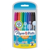 Paper Mate InkJoy Capped Mini Pens - 1 mm Point Size - Assorted - Transparent Barrel - 10 / Pack