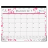 """Blue Sky Breast Cancer Awareness Desk Pad - Julian - Monthly, Daily - 1 Year - January till December - 1 Month Single Page Layout - 22"""" x 17"""" - Desk Pad - Multicolor - Writable Surface, Notes Area, Re"""