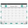 "Blue Sky Penelope Desk Pad - Julian - Monthly, Daily - 1 Year - January till December - 1 Month Single Page Layout - 22"" x 17"" - Desk Pad - Multicolor - Writable Surface, Notes Area, Appointment Sched"