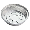 "Round Aluminum Food Container Set - 7"" Diameter Food Container, Lid - Aluminum - Cooking, Serving - Silver - 250 Piece(s) / Carton"