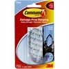 Command Large Clear Hanging Hooks - 4 lb (1.81 kg) Capacity - for Decoration - Plastic - Clear - 2 / Pack